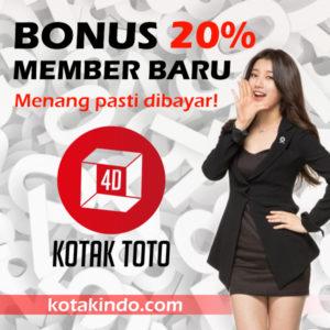 Bonus Member Baru 20% Kotaktoto