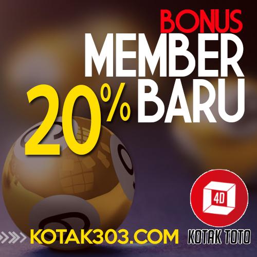 Dapatkan Bonus Member Baru 20% Di Agen Togel Terpercaya Kotaktoto