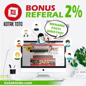 Bonus Referal 2% kotaktoto