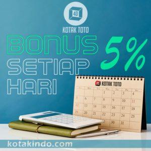 Bonus Setiap Hari 5% di Kotaktoto